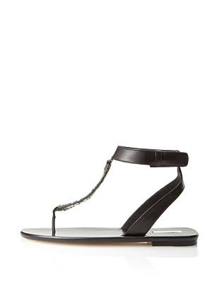Calvin Klein Collection Women's Lyra T-Strap Sandal (Black)