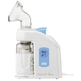 【クリックで詳細表示】エーアンドディ 超音波温熱吸入器 ホットシャワー3 UN-133B: ホーム&キッチン