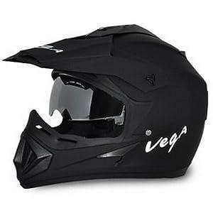 Vega Auto Off-Road Dull Black Helmet