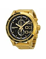Diesel Double Down Black Dial Gold-Tone Mens Watch Dz4337