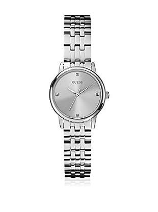 Guess Uhr mit japanischem Mechanikuhrwerk Woman Lady Wafer Silver Tone