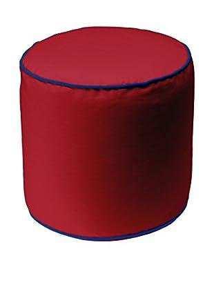 13 Casa Pouf Art. Bicolor 2 Cylindre rot