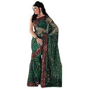 designer net saree blouse digital embroidery party wear wedding bollywood