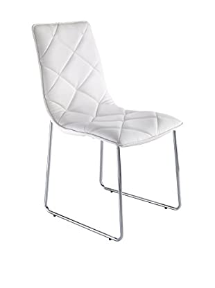 Contemporary Office Set Silla 4 Uds. Soft Blanco