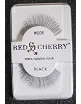 Red Cherry False Eyelashes #606 Black Pack of 3 (Red Cherry - Kim Kardashian's Choice)