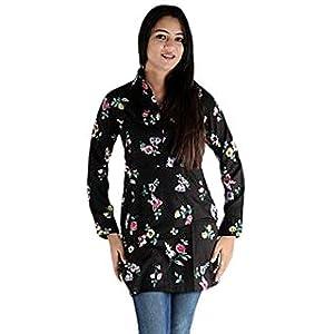 Urbane Woman Women's Cotton Dress Like Kurti (uw.kur.9408_1_Black_XX-Large)