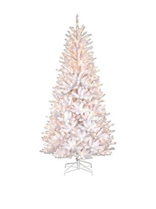 National Tree Company 7.5' Dunhill Slim Iridescent Fir Hinged Tree