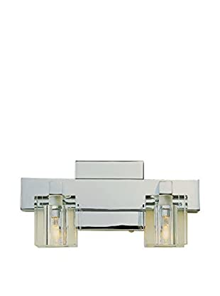 Bel Air Lighting Crystal Cube 2-Light Wall Sconce, Polished Chrome