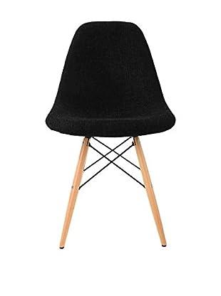 LO+DEMODA Stuhl 2er Set Wooden Black Edition