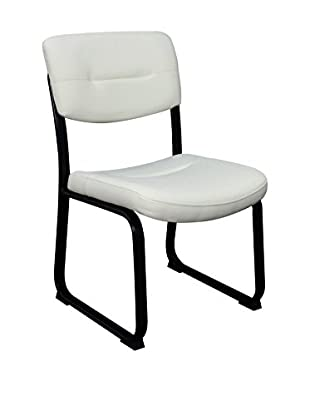 Regency Crusoe Leather Side Chair, White