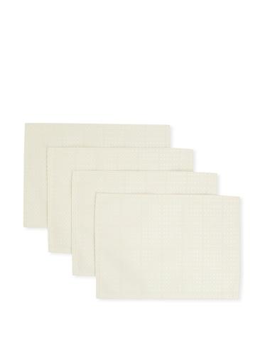 Bardwil Set of 4 Evolution Placemats (Ivory)