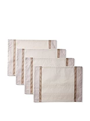 Garnier-Thiebaut Set of 4 Antique Placemats, Terre