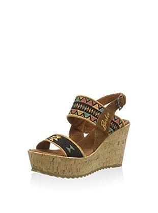 BUNKER Sandalias de cuña Sandal Negro EU 36