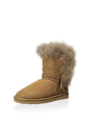 Koolaburra Women's Trishka Short Fur Boot (Chestnut)