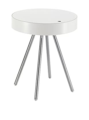 Contemporary Home Mesa Auxiliar Spok Blanco