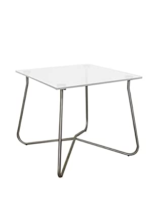 Control Brand Chania Outdoor End Table, Clear