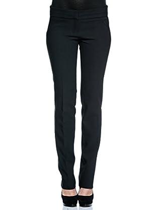 Annarita N Pantalón de Vestir Diritta (Negro)