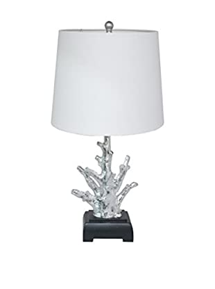 Three Hands Coral Look Silver Table Lamp
