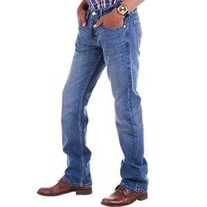 Levi's Blue 527 boot cut jeans for men | Size 28
