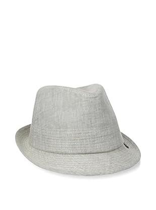 BLOCK Mens Stitched Linen Trilby Hat