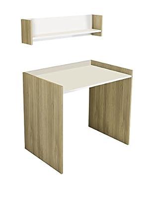 Minar Schreibtisch Crood weiß/natur