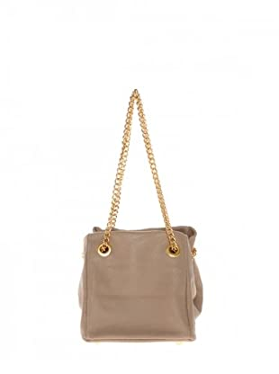 Elysa Satchel-Bag mit Gliederkette (Beige)