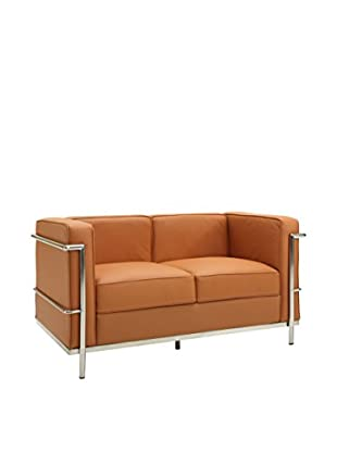 Modway Charles Petite Faux Leather Loveseat (Tan)