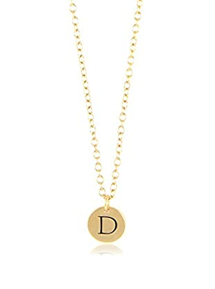 Ettika 18K Gold-Plated D Initial Charm Necklace