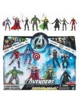 Marvel Exclusive Action Figure 8-Pack The Avengers Iron Man, Thor, Captain America, Hulk, Black Widow, Hawkeye, Nick Fury amp Loki