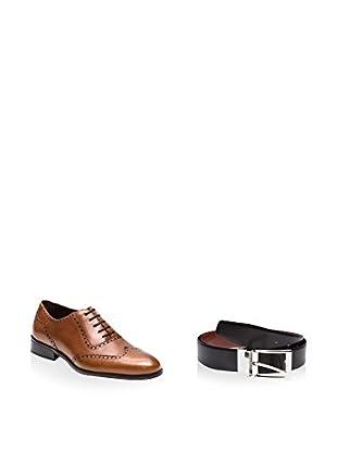 Ortiz & Reed Zapatos Oxford + Cinturón Piel SET-ZCP32-CCR3