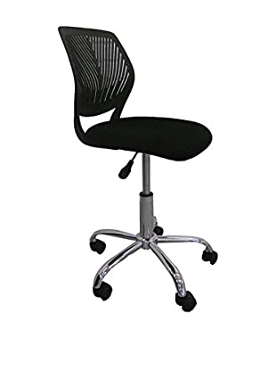 Office Ideas Bürostuhl Poltrona Ufficio Qwerty schwarz 50 x 50 x 75H cm