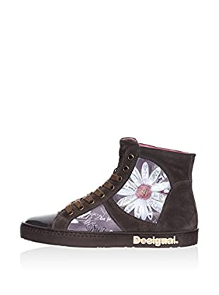 Desigual Hightop Sneaker Love on pink