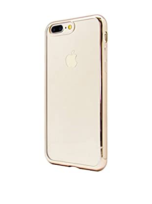 UNOTEC Hülle Tpu Gel iPhone 7 Plus Color Frame goldfarben