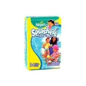 Pampers Splashers Swim Diapers Size 3-4 (16-64lbs) 18 ea 8 Packs