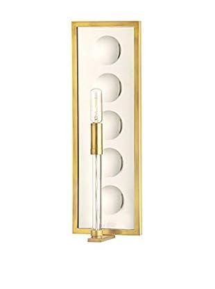 Hudson Valley Lighting Winston 1-Light Mirrored Wall Sconce, Aged Brass