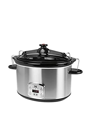Kalorik Stainless Steel 8-Qt Digital Slow Cooker With Locking Lid