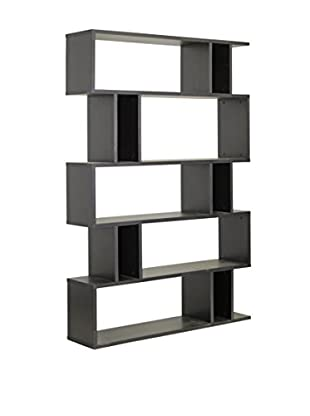 Baxton Studio Goodwin 5-Level Bookshelf, Espresso