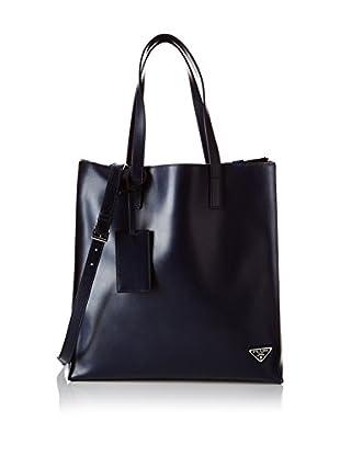 Prada Bolso asa al hombro Logo Azul Oscuro