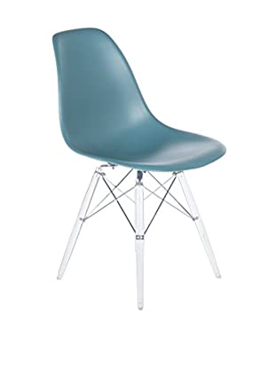 Control Brand The Mid-Century Eiffel Dining Chair, Clear/Navy Green