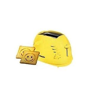 Euroline Pop-up Toaster 2 Slice (Smiley) EL - 820 Yellow