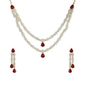 Stone Necklace Set by Sia Jewellery - NSET-015