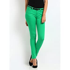 Vero Moda Women Green Trousers