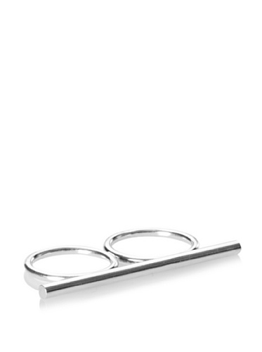 Jules Smith Silver Knuckle Lover Stackable Ring, 6/7