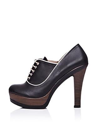 Ziya Zapatos Abotinados Cordones (Negro)