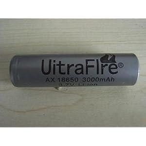 【クリックで詳細表示】Ultra Fire 18650 3.7Vリチウムイオン充電池 3000mAh (プロテクト回路)