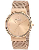 Skagen Analog Gold Dial Women's Watch - SKW2130I