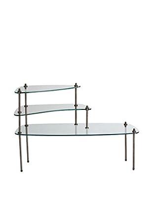 Arteriors Home Vigo Side Table, Natural Iron/Clear