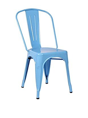 LO+DEMODA Set Silla 2 Uds. Terek Azul Claro