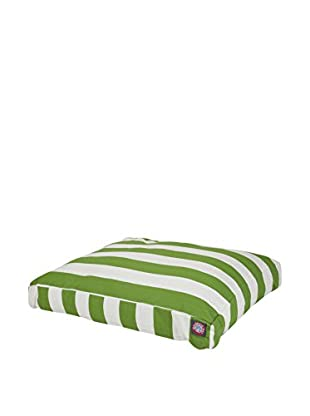 Vertical Stripe Small Rectangle Pet Bed, Sage