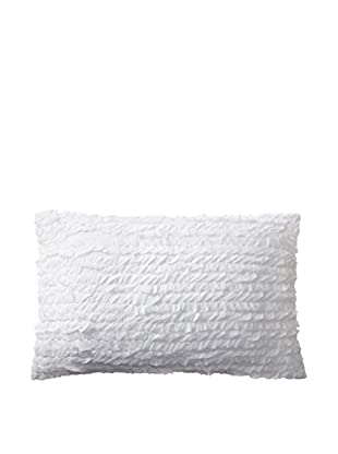 Shades of India Firth Lumbar Pillow Cover, White